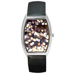 Bright Light Pattern Barrel Style Metal Watch by FunnyCow