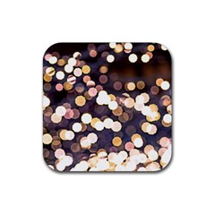 Bright Light Pattern Rubber Square Coaster (4 Pack)  by FunnyCow