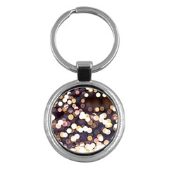 Bright Light Pattern Key Chains (round)  by FunnyCow