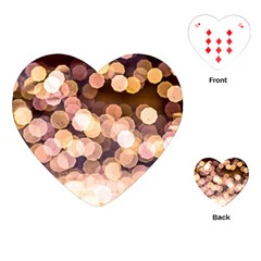 Warm Color Brown Light Pattern Playing Cards (heart)  by FunnyCow