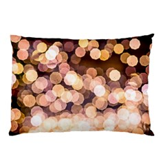 Warm Color Brown Light Pattern Pillow Case by FunnyCow