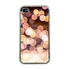 Warm Color Brown Light Pattern Apple Iphone 4 Case (clear) by FunnyCow