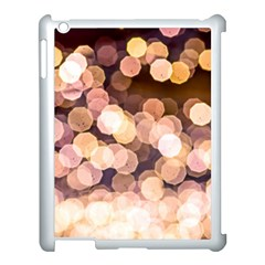 Warm Color Brown Light Pattern Apple Ipad 3/4 Case (white) by FunnyCow