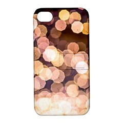 Warm Color Brown Light Pattern Apple Iphone 4/4s Hardshell Case With Stand by FunnyCow
