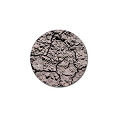 Earth  Dark Soil With Cracks Golf Ball Marker by FunnyCow