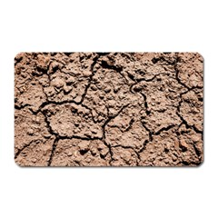 Earth  Light Brown Wet Soil Magnet (rectangular) by FunnyCow