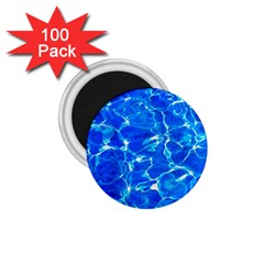 Blue Clear Water Texture 1 75  Magnets (100 Pack)  by FunnyCow