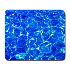 Blue Clear Water Texture Large Mousepads by FunnyCow