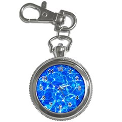 Blue Clear Water Texture Key Chain Watches by FunnyCow