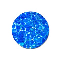 Blue Clear Water Texture Magnet 3  (round) by FunnyCow