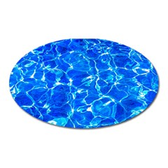 Blue Clear Water Texture Oval Magnet by FunnyCow