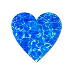 Blue Clear Water Texture Heart Magnet by FunnyCow