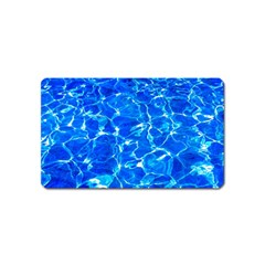 Blue Clear Water Texture Magnet (name Card) by FunnyCow