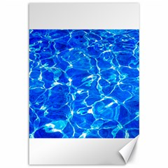 Blue Clear Water Texture Canvas 12  X 18   by FunnyCow