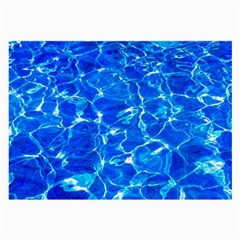 Blue Clear Water Texture Large Glasses Cloth (2 Side) by FunnyCow