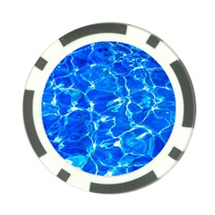 Blue Clear Water Texture Poker Chip Card Guard (10 Pack) by FunnyCow