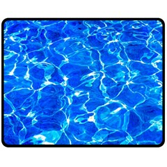 Blue Clear Water Texture Fleece Blanket (medium)  by FunnyCow