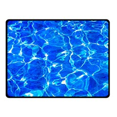 Blue Clear Water Texture Fleece Blanket (small) by FunnyCow