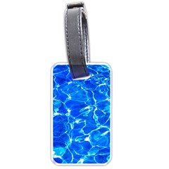 Blue Clear Water Texture Luggage Tags (two Sides)