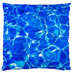 Blue Clear Water Texture Large Cushion Case (two Sides) by FunnyCow