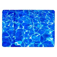 Blue Clear Water Texture Samsung Galaxy Tab 10 1  P7500 Flip Case by FunnyCow