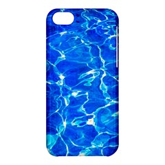 Blue Clear Water Texture Apple Iphone 5c Hardshell Case by FunnyCow
