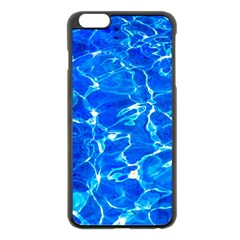 Blue Clear Water Texture Apple Iphone 6 Plus/6s Plus Black Enamel Case by FunnyCow
