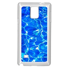 Blue Clear Water Texture Samsung Galaxy Note 4 Case (white) by FunnyCow