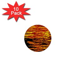 Liquid Gold 1  Mini Buttons (10 Pack)  by FunnyCow
