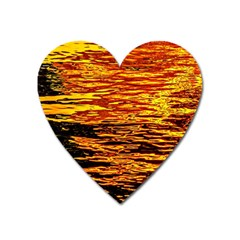 Liquid Gold Heart Magnet by FunnyCow