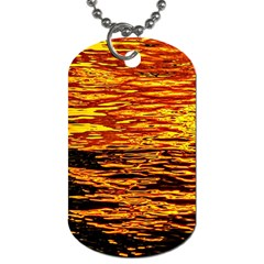 Liquid Gold Dog Tag (one Side) by FunnyCow