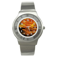Liquid Gold Stainless Steel Watch by FunnyCow