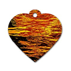Liquid Gold Dog Tag Heart (one Side) by FunnyCow