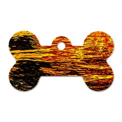 Liquid Gold Dog Tag Bone (two Sides) by FunnyCow