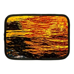 Liquid Gold Netbook Case (medium)  by FunnyCow