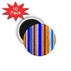 Colorful Wood And Metal Pattern 1 75  Magnets (10 Pack)  by FunnyCow