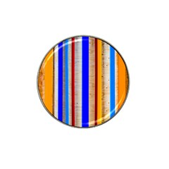 Colorful Wood And Metal Pattern Hat Clip Ball Marker (10 Pack) by FunnyCow