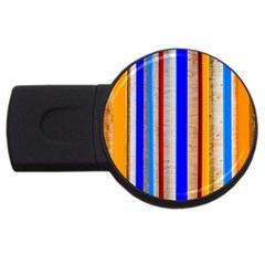 Colorful Wood And Metal Pattern Usb Flash Drive Round (4 Gb) by FunnyCow