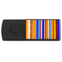 Colorful Wood And Metal Pattern Rectangular Usb Flash Drive by FunnyCow