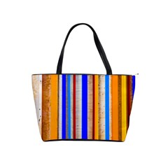 Colorful Wood And Metal Pattern Shoulder Handbags by FunnyCow
