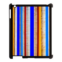 Colorful Wood And Metal Pattern Apple Ipad 3/4 Case (black) by FunnyCow