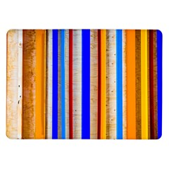Colorful Wood And Metal Pattern Samsung Galaxy Tab 10 1  P7500 Flip Case by FunnyCow