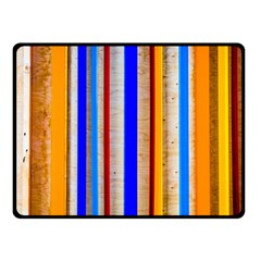 Colorful Wood And Metal Pattern Double Sided Fleece Blanket (small)  by FunnyCow
