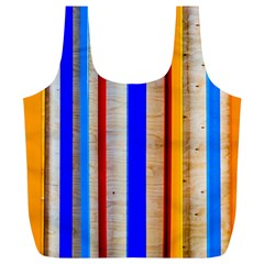 Colorful Wood And Metal Pattern Full Print Recycle Bags (l)  by FunnyCow