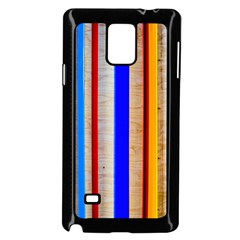Colorful Wood And Metal Pattern Samsung Galaxy Note 4 Case (black) by FunnyCow