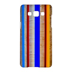 Colorful Wood And Metal Pattern Samsung Galaxy A5 Hardshell Case  by FunnyCow