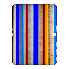 Colorful Wood And Metal Pattern Samsung Galaxy Tab 4 (10 1 ) Hardshell Case  by FunnyCow