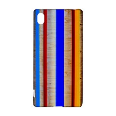 Colorful Wood And Metal Pattern Sony by FunnyCow