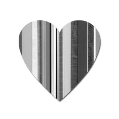 Shades Of Grey Wood And Metal Heart Magnet by FunnyCow