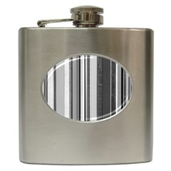 Shades Of Grey Wood And Metal Hip Flask (6 Oz) by FunnyCow